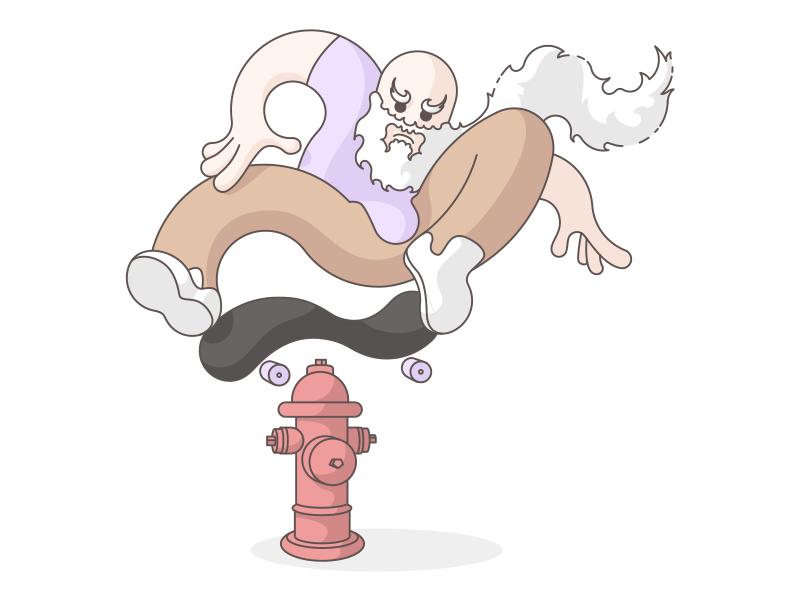 Skateboarding Character