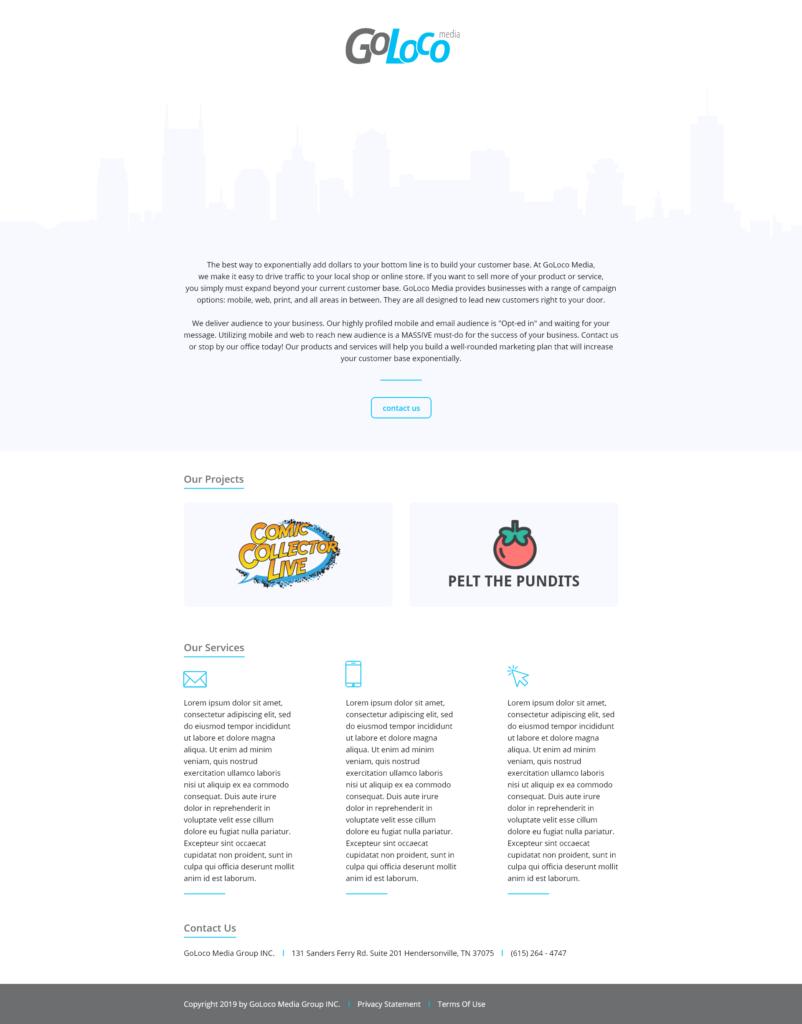 GoLoco Corporate Site Redesign